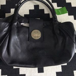 Kate Spade black leather purse NEW with tags